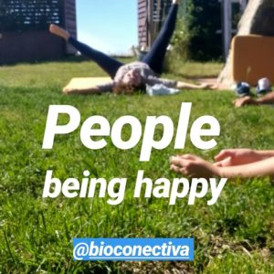 People being happy