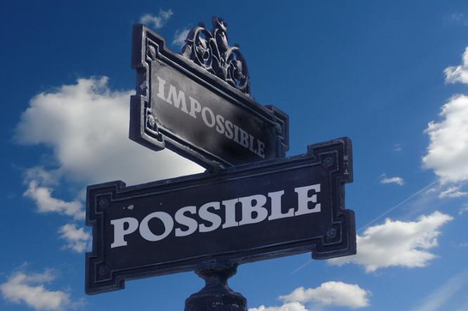 señal de imposible a posible